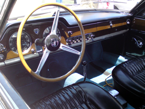 Interior of the 1963 Lancia Flaminia 2.8 3C, Jules Heumann.