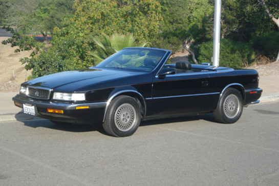 The TC by Maserati had open headlamps which meant you didn't have to worry about headlight covers failing to open like you do on the LeBaron. The hardtop was always painted body color and if you can get a hardtop with a car today, take it as it's roughly 10% of the car's value.