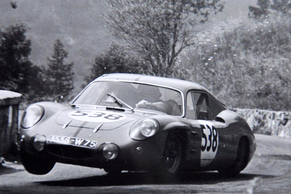 Alpine M64, with slightly redesigned bodywork for 1964.