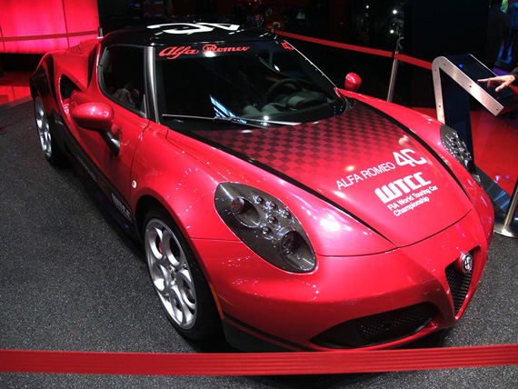 The racing version of the Alfa 4C
