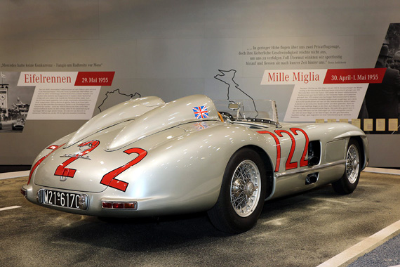 This year marks the 60th anniversary of the legendary victory of Moss and Jenkinson onboard their Mercedes 300 SLR at the 1955 Mille Miglia.  In perfect weather conditions, they established a record average of 97.90 mph that remained unbeaten.