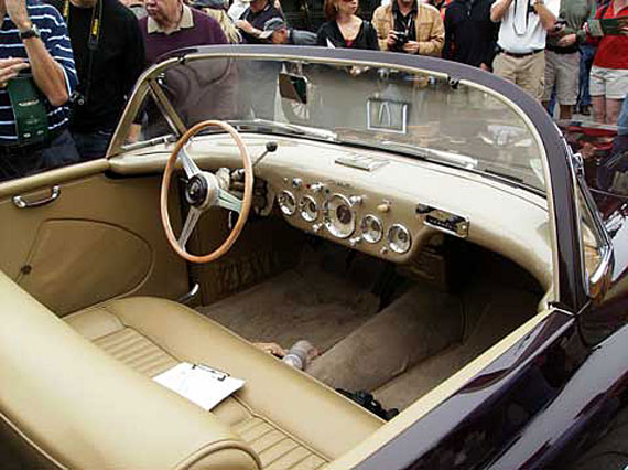 Interior is similar to the early Corvettes. Photo by Brandes Elitch.