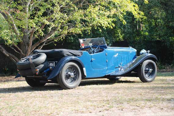 Antony Simpson's Delage D8S. Photo by Vince Johnson