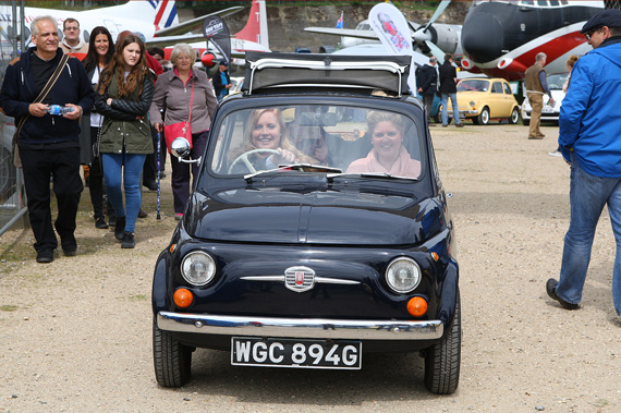 The annual Italian car day at Brooklands just seems to make people smile!