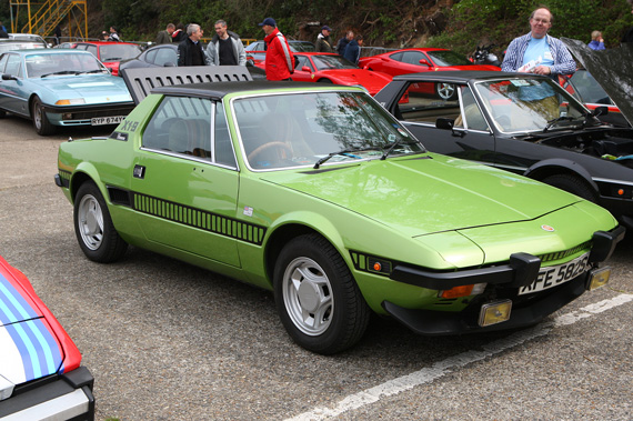 My friend and I spent most of the day saying when was the last time you saw on of those! Here a lovely early Fiat X19