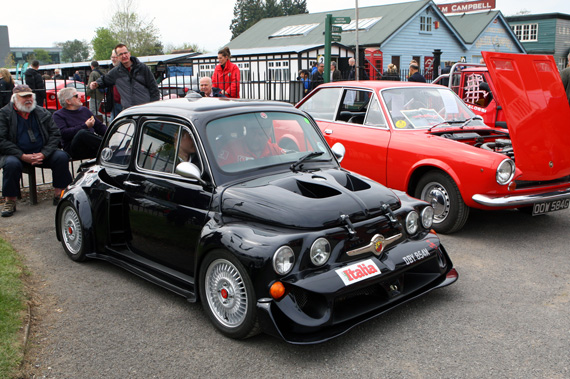 This rather rapid Fiat 500 had ditched its normal engine for what looked to me to be a mid mounted Alfa Boxer engine.