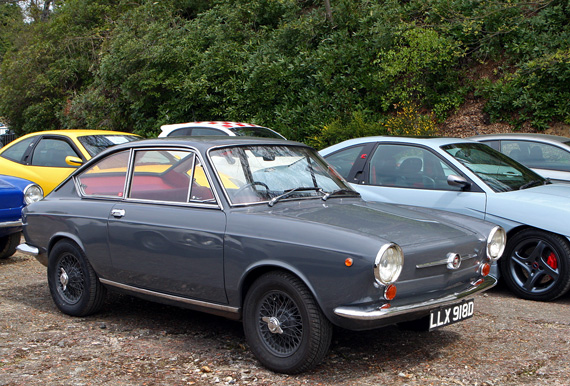 Its rare enough to see a Fiat 850 Coupe let along an early example on wire wheels.