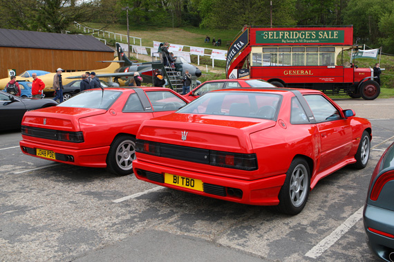 It was good to see that Maserati's from the Bi Turbo period are beginning to appear more regularly at shows. Two Shamals and an old London Bus