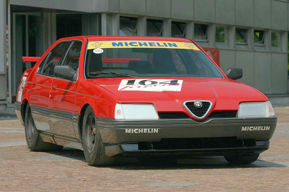 Mean-looking Alfa 164 Procar. Capable of over 200 mph, it was faster than it looked.
