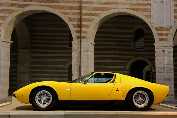 In this exhibit, this Lamborghini Miura, a 1972 P400 SV version, is the link between the prolific 50's and 60's and the supercars of today.