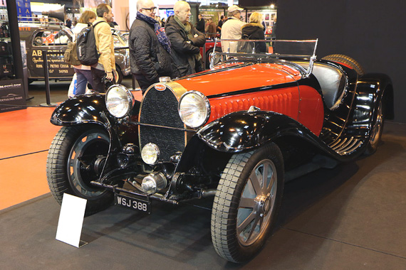The booth of the Swiss dealer Lükas Hüni is always one of the attractions of the show as the cars presented are (most of the time)  not for sale but coming from private collections never shown anywhere else.  This particular Bugatti Type 55 Roadster is considered to be the most original as it is the sole example that remains unrestored.