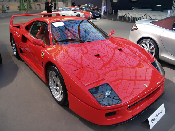 Ferrari F40 (1990) not sold: estimate was 950,000 to 1,100,000 euros.