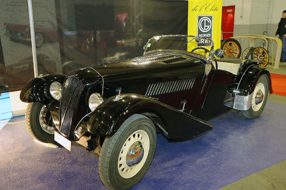Some rare cars were on show like this 1936 Georges Irat roadster with a Ruby engine.