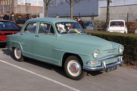 Parking lots also worth a visit.  Here is a Simca Aronde which was the best-selling car in France in 1956.