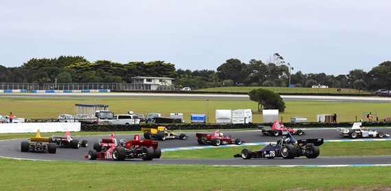 F5000 form-up lap, turn10