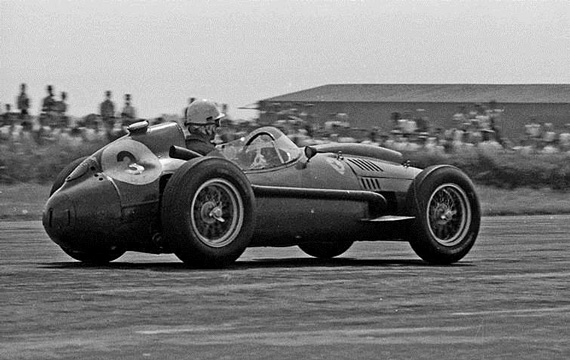 At Silverstone in 1958, von Trips was driving the Dino 246.