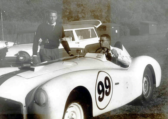 This photo was given to Dave Rex by the guy behind the steering wheel who was a mechanic on the car in the early 50's.