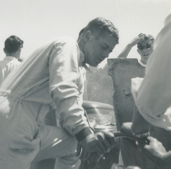 Augie Pabst, Road America, June 23, 1963. Photo by Don Vack