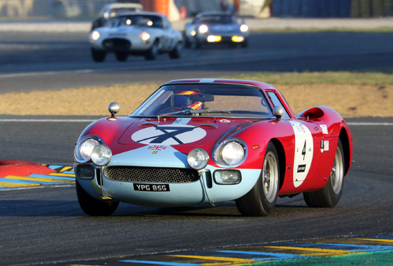 In grid 4, from 1962 to 1965, the same Clive Joy entered the 250 LM # 5907.  This car won the Reims 12 hours in 1964 with Graham Hill and Jo Bonnier.  Held usually one month after Le Mans 24 hours, it was often considered as a revenge of the Le Mans enduro.