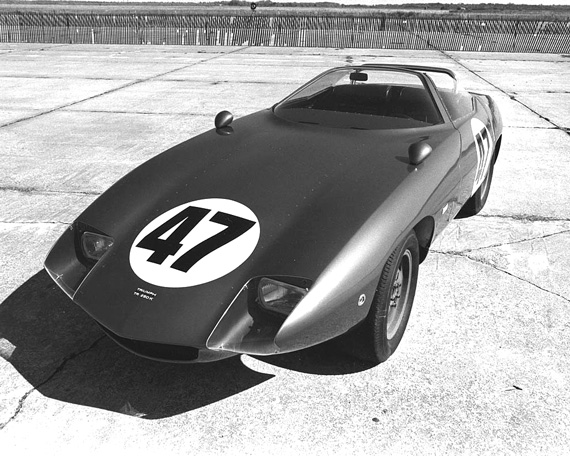 Ready to race! TR250K Sebring 1968.  Peter Brock's aero-bodied TR still looks like a modern production sports car with full wraparound windscreen and faired-in headlights.