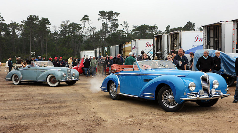 Delahaye was one of the featured make and Chapron was the highlighted coachbuilder. That is why you have here a 1947 Delahaye 175 S Chapron Le Dandy cabriolet and 1949 Delahaye 135 M Chapron cabriolet, the last one listed in the Postwar Preservation Class.