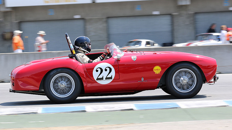 The 1954 Ferrari 500 Mondial of Jeffrey Abramson, 4th in Group 1B for 1947-55 Sports Racing and GT cars.