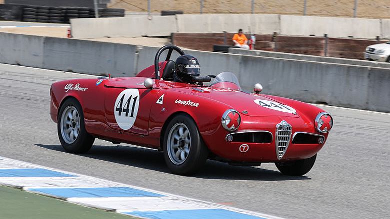 The Alfa Romeo Giulietta Sebring spider seems to have been mostly raced in America as only a few of these cars were sold in Europe.