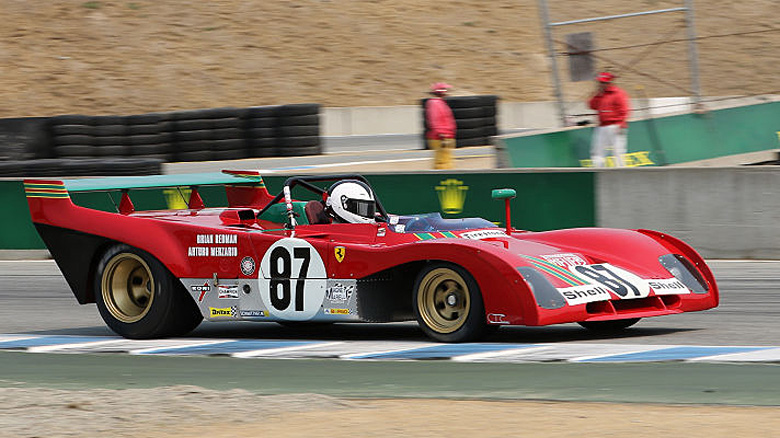 Bob Earl was the winner of Group 3B for 1963-1973 FIA Manufacturers Championship cars with his Ferrari 312 PB.