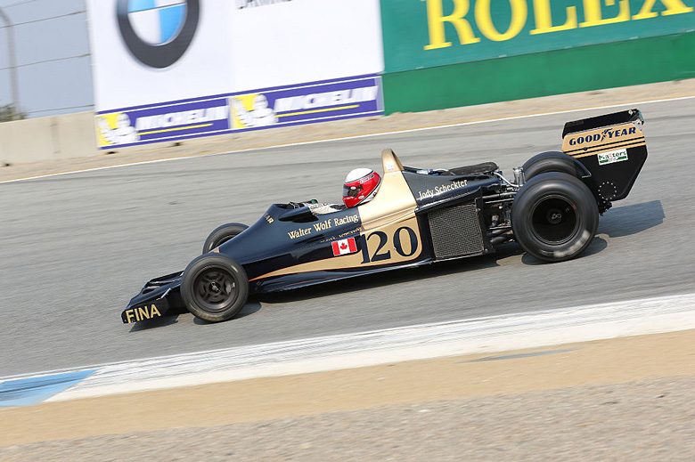 South-African Jody Scheckter also drove this Wolf in the inaugural season of the team in 1977 and took victory at the very first Grand Prix in Argentina !  It is here driven by former four-time Grand Prix motorcycle World Champion Eddie Lawson.