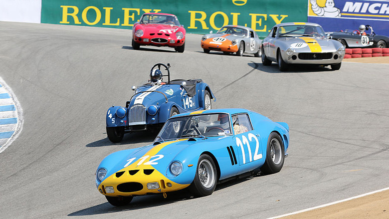 Group 3A for 1955-1962 GT cars was one of the most awaited grid by Ferrari aficionados with two GTOs, one Lusso, two SWBs and a Tour de France.