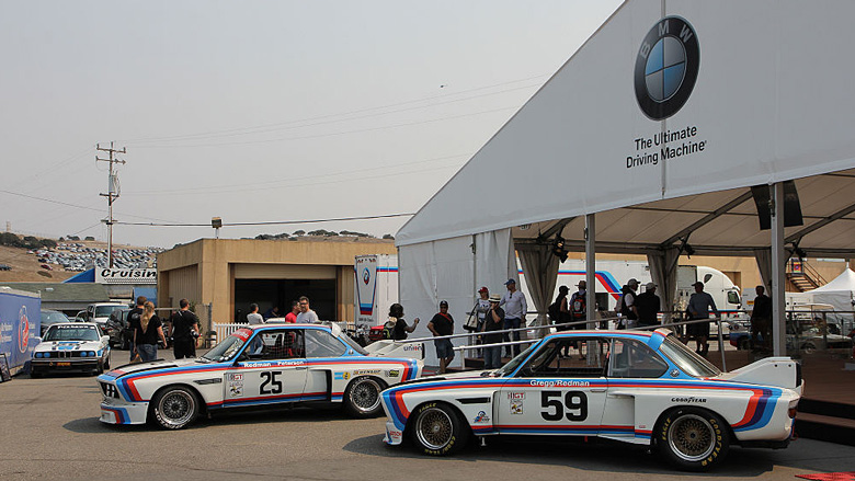 In 1975 and 1976, BMW North America entered a team of five 3.0 CSL in the IMSA series, winning at Sebring, Daytona, Laguna Seca and various other tracks. These cars were driven by great names such Brian Redman, Ronnie Peterson, David Hobbs and Peter Gregg among others.