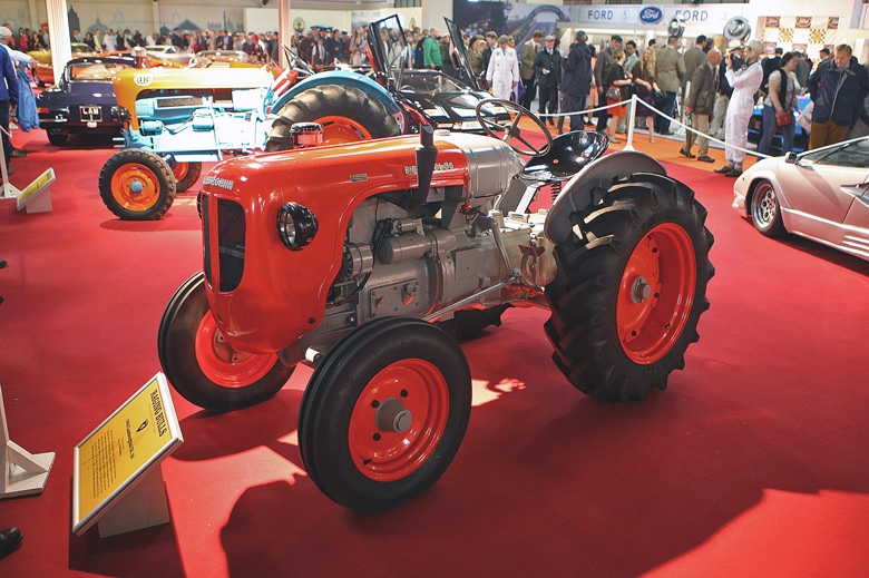Rare to see an exhibition which boasts both the Lamborghini tractors and cars.
