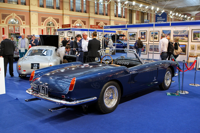 Recently restored by GTO Engineering and taking pride of place on their stand,was this 1960 Ferrari 250 GT Cabriolet Pininfarina Series 1, chassis  1475GT. Previously owned for 40 years by Ferrari historian Hilary Raab.