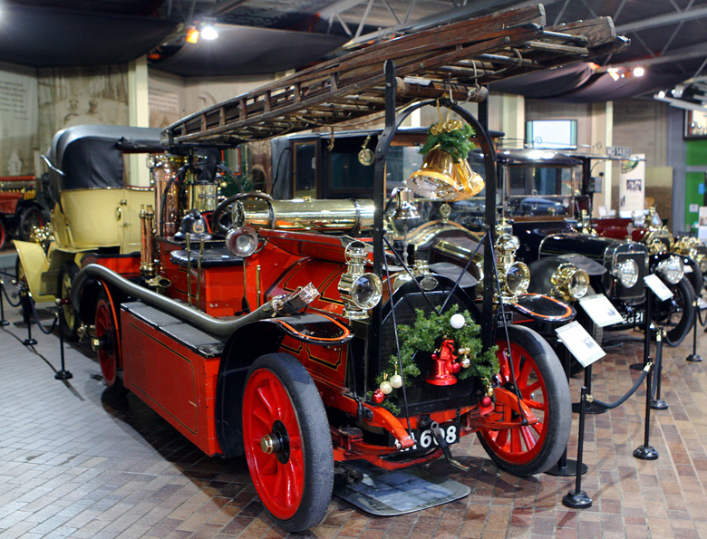 Built in 1907 originally as a seven seater touring car this Gobron Brillie was later converted into an estate fire engine using a Merryweather steam fire pump from an old horse drawn fire engine.