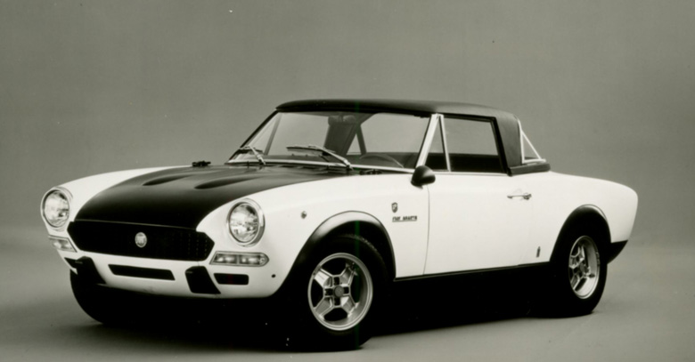 Fiat PR photo of one of the first Abarth 124 Rally cars, circa 1973.
