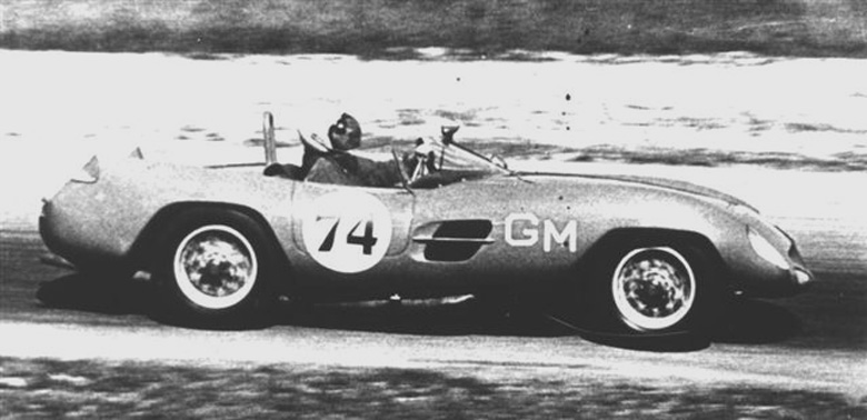 Clem Johnson and the 1100cc Stanguellini Bialbero Sport CS01120 at Elkhart Lake in 1960 June Sprints.