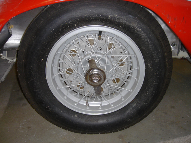 Tires, wheels and brakes are now as close to original configuration as possible. Brake drums were recreated using patterns from other Stanguellinis.