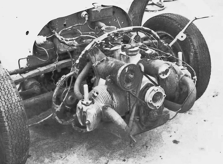 The Panhard engine in the Aardvark in the 1950s.