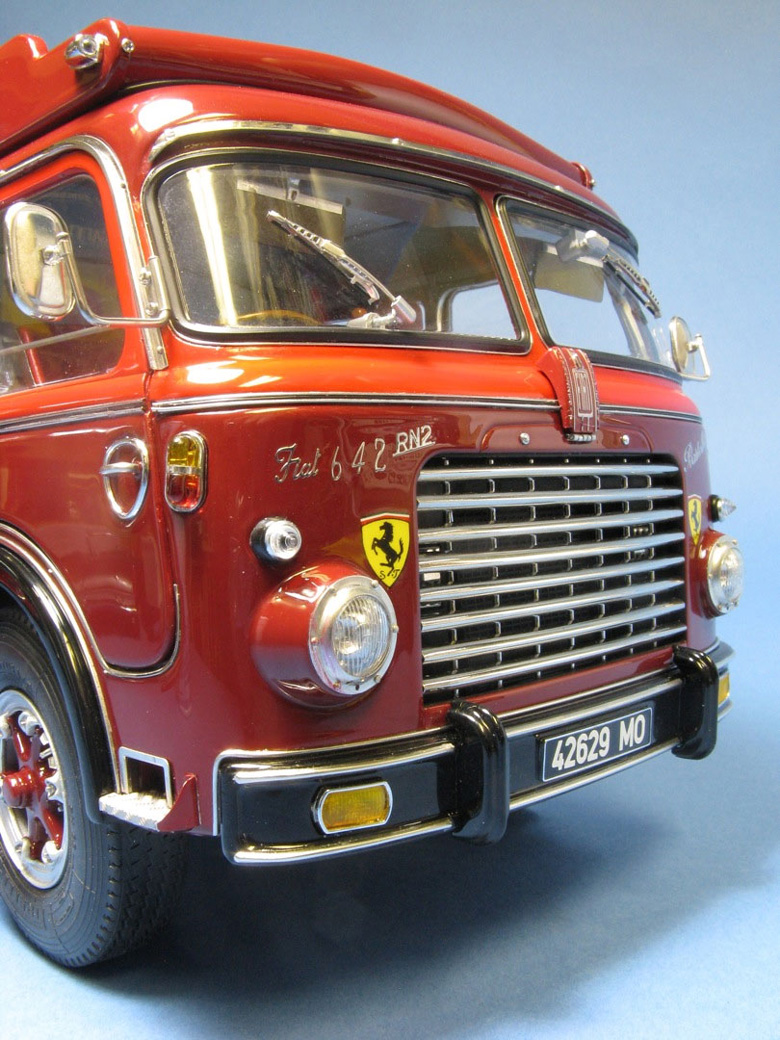1957 Ferrari Transporter in 1/18 and 1/43 Scale