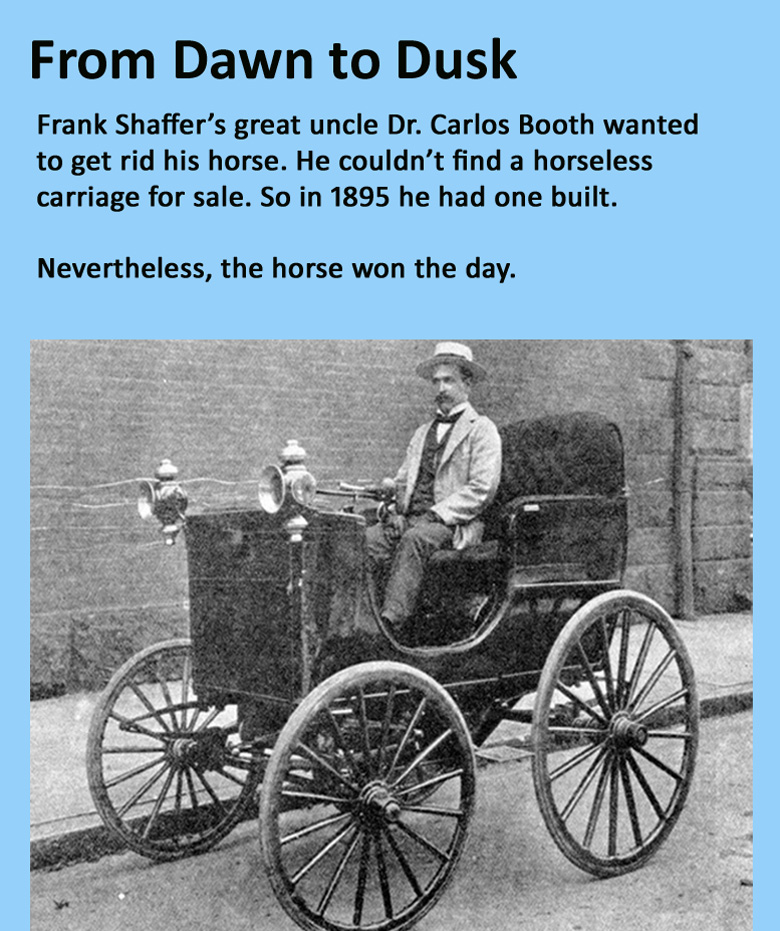 Dr  Carlos Booth and his Horseless Carriage